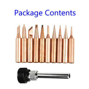 Soldering Iron Tip Replace Parts 11 Pcs set 900m t Series Screwdriver Industrial