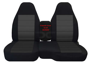 Fits 91 97 Ford Ranger 60 40 High Back Car Seat Covers Blk charcoal Insert
