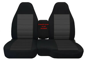 Car Seat Covers Black charcoal Insert Fits 98 03 Ford Ranger 60 40 Highback