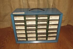 Vintage Metal Chicago Specialty Parts Cabinet 24 Drawer O Rings Included 3040