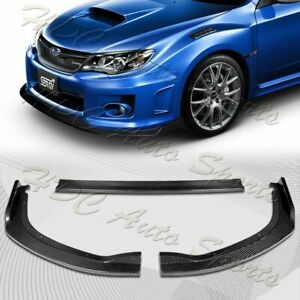 For 2011 2014 Subaru Wrx Sti Cs2 Style Real Carbon Fiber Front Bumper Body Lip