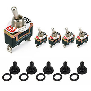 5x Heavy Duty Toggle Flick Switch 12v On Off Car Dash Light 2pin Spst Universal
