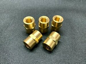 5 Solid Brass Hex Pipe Coupling 1 4 Female Npt Air Fuel Gas Water