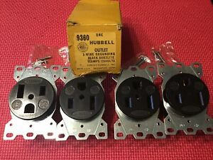 Hubbell Hbl9360 Straight Blade 50amp Receptacle 125v 50a 2p 3w 5 50r Lot 4 Nos
