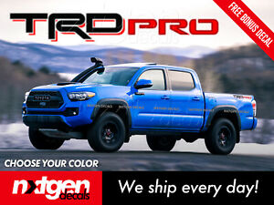 Tacoma Trd Pro Toyota Tundra Bed Side Vinyl Graphics Decals Stickers
