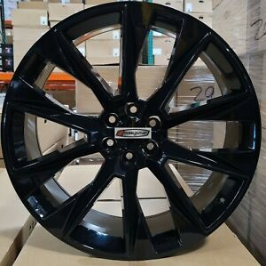 26 Chevy Replica Rims Black Wheels Tires Fit Tahoe Silverado Ltz Escalade C14