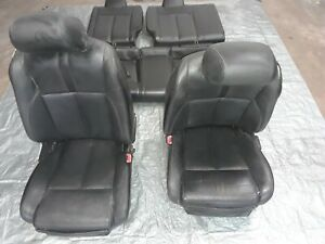 08 09 Nissan Altima Front Seat Coupe Leather Black Left Right Front Rear Set