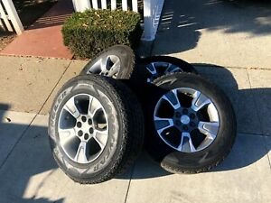 Factory Oem Wheels And Tires From A 2018 Chevy Colorado Z71 Set Of 4