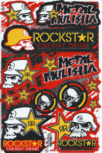 Rockstar Energy Motocross Racing Metal Mulisha Motorcross Yoshimura Sticker Viny