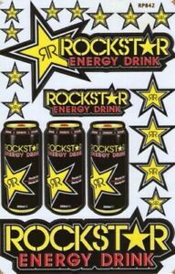 Rockstar Energy Drink Motocross Racing Motorcross Yoshimura Sticker Vinyl Enduro
