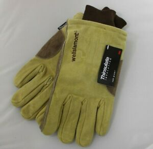 New Wells Lamont Insulated Suede Winter Work Gloves Men s Size Large