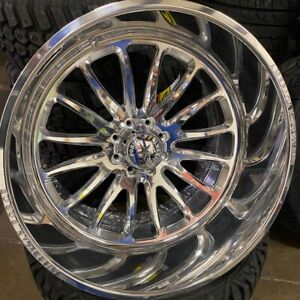26x14 American Force Nemesis Ford Powerstroke Diesel Forged Rims Tires Truck