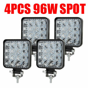 4pcs 96w Led Work Light Spot Lights For Truck Off Road Tractor Atv Square Usa