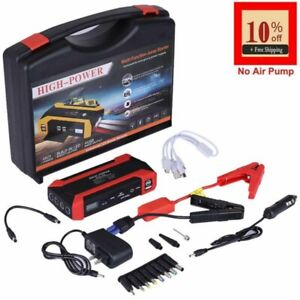20000mah Car Jump Starter Portable Charger Power Bank With Led Flash Light Tool