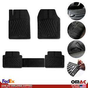 3d All weather Car Floor Mats Liner Set Front Rear 4 Pieces Black Fits Kia Forte