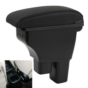 Us Stock Double Layer For Honda Fit Jazz 2009 2013 Armrest Box Consoles Storage