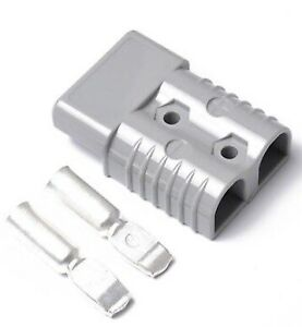 Forklift Battery Connector 350 Amps 600v Gray Plastic Plugs Heavy Duty