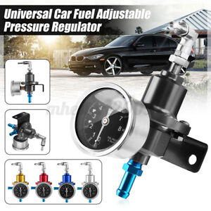 Universal Adjustable Auto Car Fuel Pressure Regulator W Kpa Oil Gauge