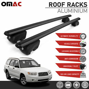 Black Roof Rail Rack Cross Bars Luggage Carrier Fits Subaru Forester 2003 2008