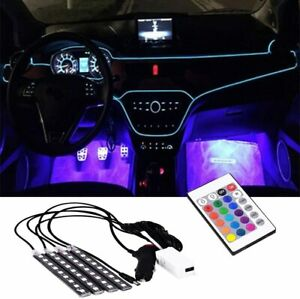 Rgb Led Car Interior Lights Accessories Floor Decorative Atmosphere Lamp Light
