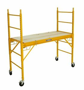 Werner Srs 72 1000 pound Load Capacity Steel Rolling Scaffold 6 foot