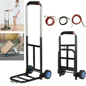 200lbs Cart Folding Dolly Collapsible Trolley Push Hand Truck Moving Warehouse