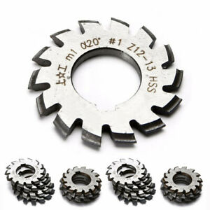 Usa Module M1 Inner Bore 20 8 Pcs 1 8 Hss Involute Gear Cutters Disk shaped