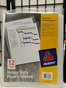 Avery Heavy Duty Plastic Sleeves Letter Size Clear Archival Safe Acid Free