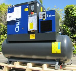 2021 Quincy Qgs 10 Rotary Screw Air Compressor 10hp With Dryer 120 Gallon Tank