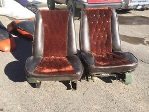 Mopar B Or C Body Bucket Seats Low Back Power Driver Side