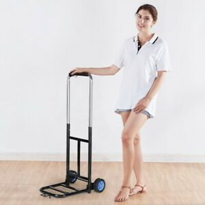 200lbs Cart Folding Dolly Collapsible Trolley Push Hand Truck Moving Warehouse M