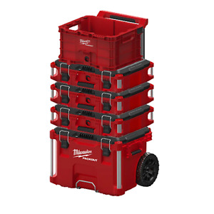 custom Milwaukee 22 In Packout Rolling Modular Tool Box Stackable Storage