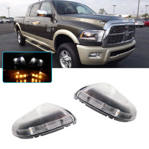 L R Clear Side Mirror Turn Signal Led Lights For 09 14 Dodge Ram 1500 10 14 2500