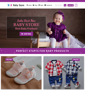 Profitable Baby Store Turnkey Dropship Website Business For Sale