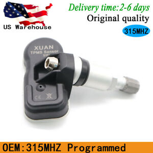 Tpms Universal 315mhz Programmable New Tire Pressure Monitoring System Sensor
