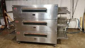 Xlt 3270 Triple Stack Natural Gas Pizza Conveyor Ovens video Demo