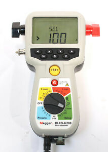 Megger Dlro h200 Hand Held 200a Micro ohmmeter Resistance Tester