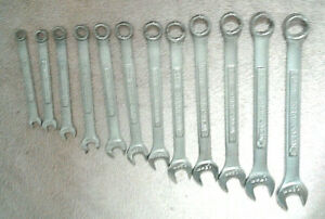 Craftsman 12 Pc Full Polish Combination Wrench Set Metric 7 Mm 18 Mm