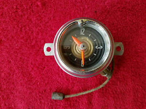 1953 Ford Original Electric Clock George Borg Tested Works