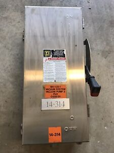100 Amp 600 Volt Stainless Steel Disconnect