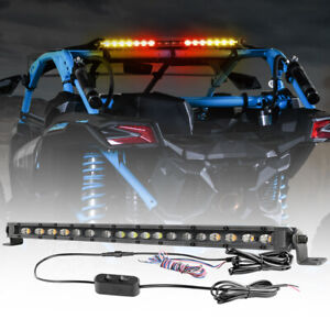20 Rear Chase Warning Light Bar Brake turn strobe For Offroad Utv Polaris Rzr