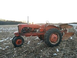 Allis Chalmers Wd45 With Rare Roll Over Snap Coupler Plow Power Steering