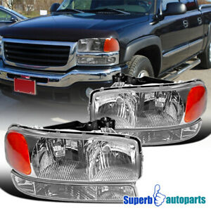 For 1999 2006 Gmc Sierra 2000 2006 Yukon Xl Headlights Signal Bumper Lights