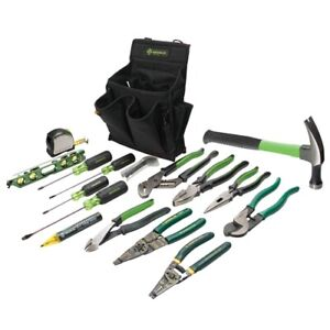 Greenlee 0159 12 Journeyman s Tool Kit 17 Pc