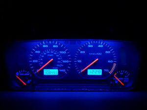 1999 02 Vw Cabrio Mk3 Mk3 5 Blue Led Instrument Guage Cluster For A t Cars