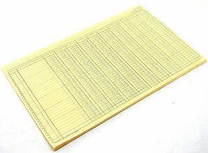 Boorum Pease 4910 Accounting Columnar Pad 50 Sheets 10 Columns 14 x8 5