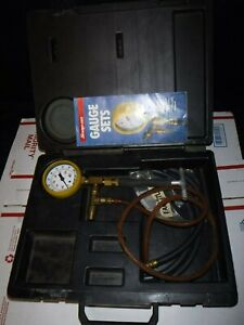 Snap On Tools Mt337b Fuel Injection Pressure Gauge Tester W Adapter Set Case