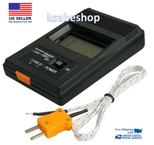 Tm 902c Digital Sensor Lcd Thermometer Single Input K Type Thermocouple Probe