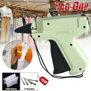 Clothe Garment Sock Price Label Tagging Tag Attaching Gun 1000 Barb 5 Needle