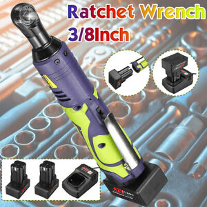 42v 80nm 3 8 Cordless Electric Ratchet Nut Wrench Power Tool Battery Green